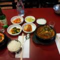 Soondubu and Kamjatang with side dishes