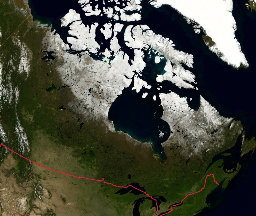 Canada by Satellite. Public Domain photo/courtesy of NASA