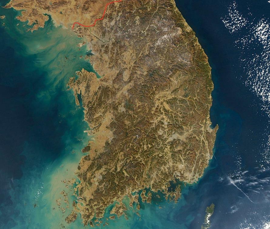 South Korea by Satellite. Public Domain photo/courtesy of NASA