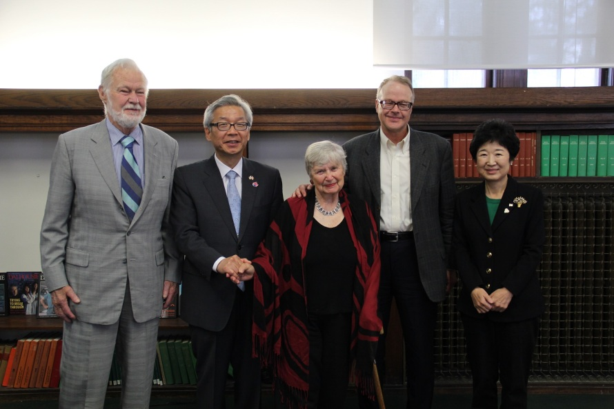 Ambassador and Mrs. Cho meet with descendants of Dr. Oliver Avison.