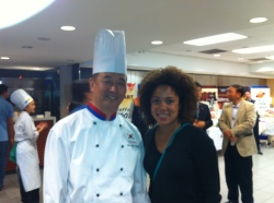 Aisha Alfa with Chef Duk-Song Chun