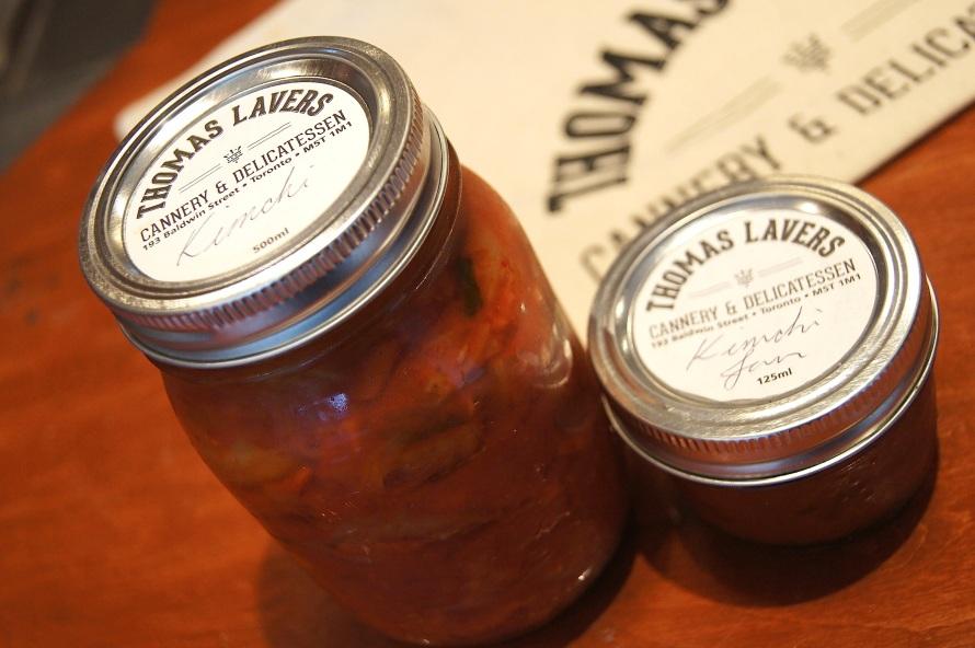 fancy-pancy jars of kimchi