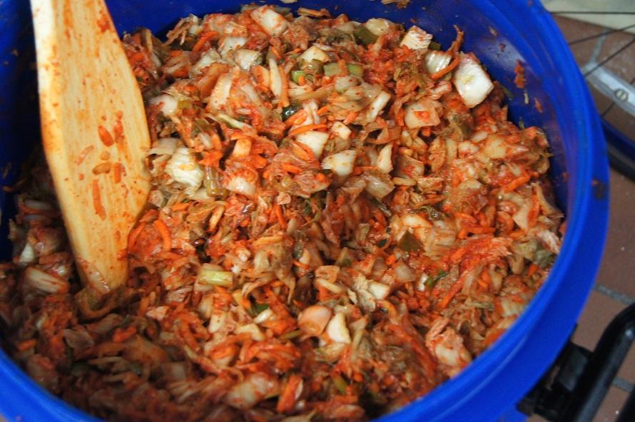 kimchi prep