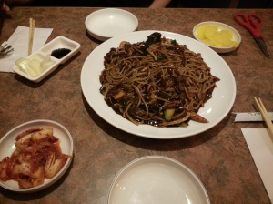 Family jjajangmyeon I had at 상해반점