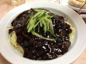 Korean style jajangmyeon.