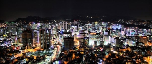 Night time view of Seoul