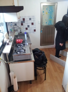 "The Kitchen in my 2013 ""full apartment"" that I shared with two roommates, it was fun though!"