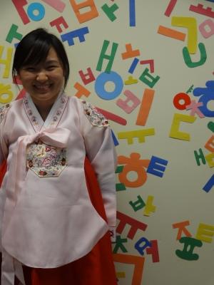 La salle pour la découverte de la langue Hangeul