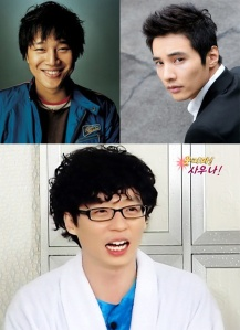 As a man meeting your Korean girlfriend's parents, you must endeavor to be as cheerful as Cha Tae-hyun (upper left) as suave as Won Bin (upper right) and as likable as Yu Jae-Seok. It's probably impossible, but it gives you something to aim for. Don't know these people? Look them up!