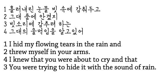 가사 Blue Rain 1