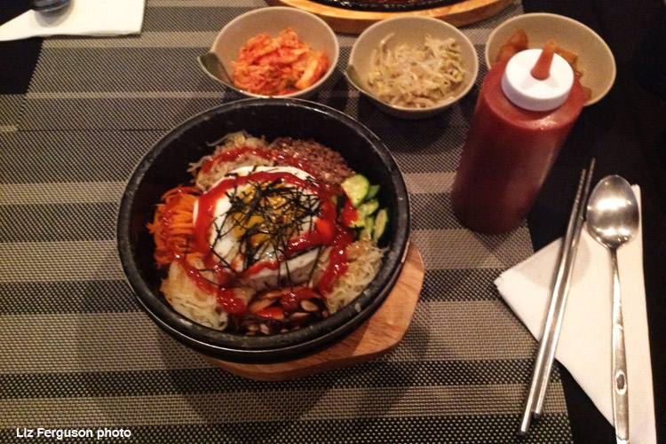 Dolsot bibimbap at the Korean restaurant Chingu in Montreal. (Photo by Liz Ferguson)