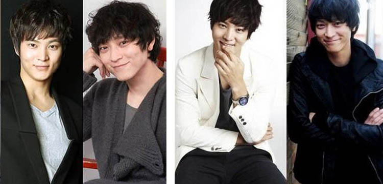 A compilation of compilations! Far left, Joo Won and Kang Dong-won from web site dreamersradio.com. The other pairing is Joo Won and Kang Dong-won from web site allkpop.com