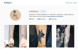 Sol Tattoo uses Instagram to advertise and showcase their work.
