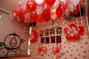 There are event cafes in Korea specifically for couples that need a private venue to celebrate their frequent anniversaries.