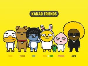 KakaoFriends, Kakao's own characters that are used as emoticons. They have become iconic to KakaoTalk.