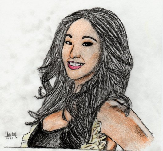 wwe_gail_kim_drawing_by_circle_of_life-d3ci5b8