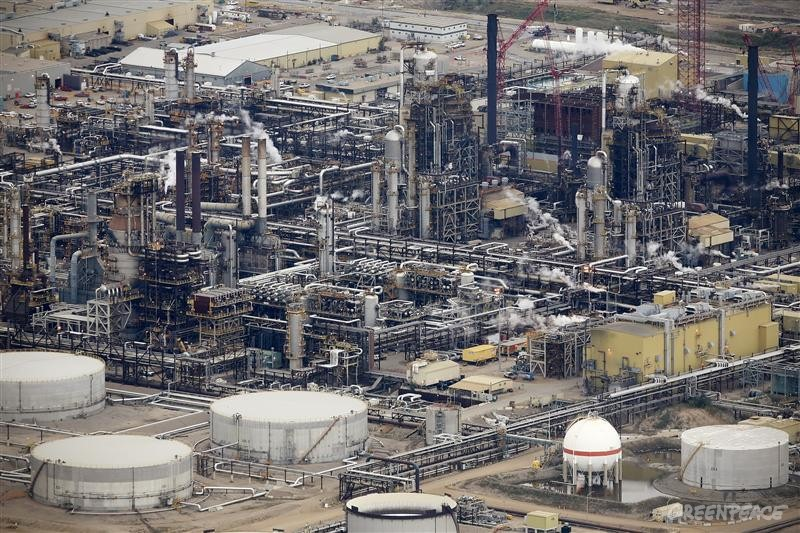 Oil Refinery in the Alberta Tar Sands