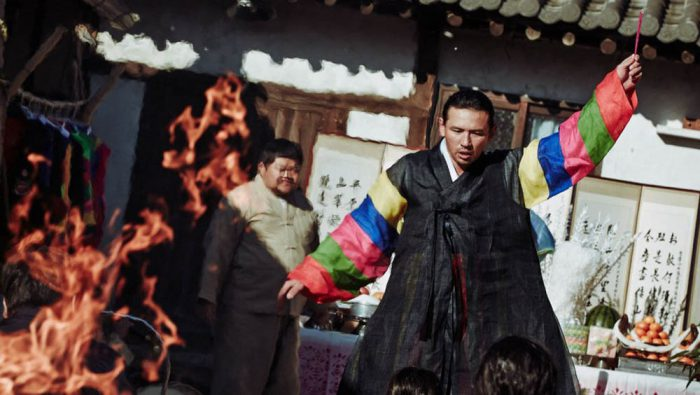 Hwang Jung-min plays a shaman in the Korean film The Wailing.