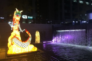 The Seoul Lantern Festival at the Cheonggyechon Stream.